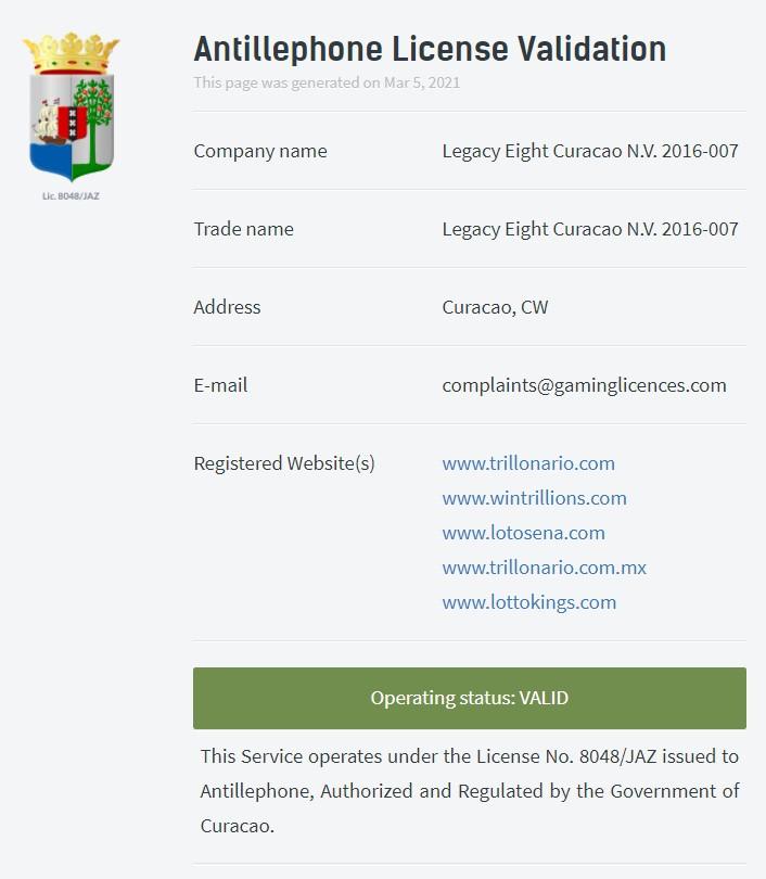 Lottokings-license