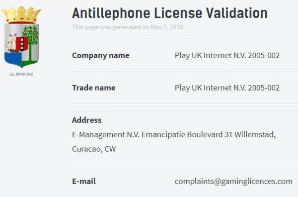 Playhugelottos-licence